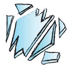 doodle broken glass
