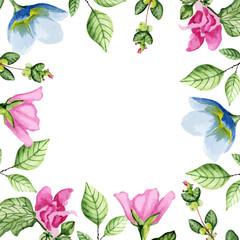 Floral white frame