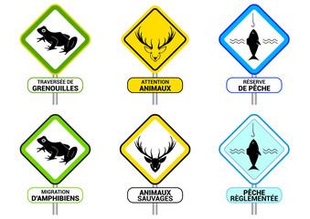 Panneau indicateur - protection des animaux