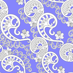 white lace pattern on lilac background