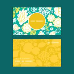 Vector emerald flowerals vertical round frame pattern business