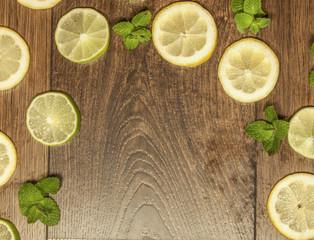 Lemon, lime and mint