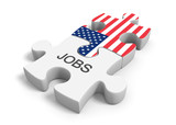 United States jobs market and employment opportunities concept poster