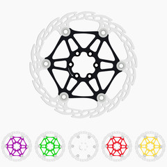 The rotor disc brake bike in six colors.