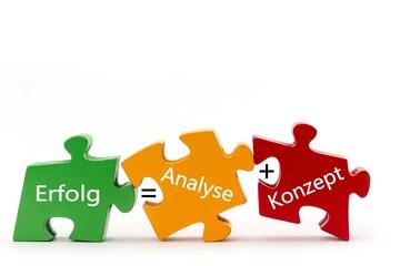 Erfolg = Analyse + Konzept
