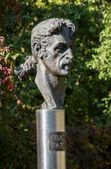 Frank Zappa statue in Vilnius, Lithuania