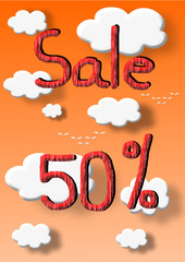 Sale 50 percent discount illustration