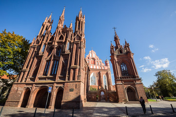 St Anne's Church in Vilnius, Lithuania