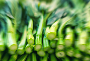 Blurred image of market vegetables