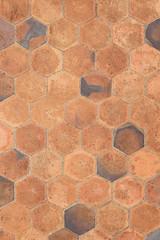 Hexagonal tiles floor background