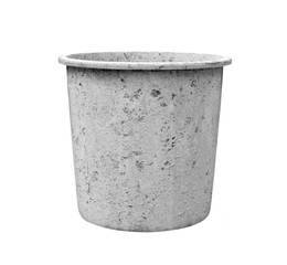 pail for about cement work on white background
