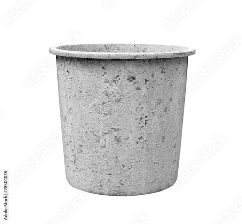 Leinwanddruck Bild pail for about cement work on white background