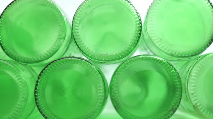 Green Bottle Bottoms Closeup Dolly
