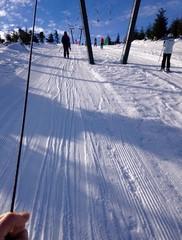 skilift im skigebiet in den Alpen