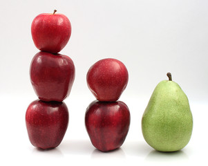 Stack of Apples and Pear