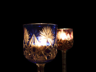 Candle Light in the Glass