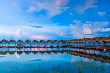Pavilion in the twilight at Ubon Ratchathani province, Thailand