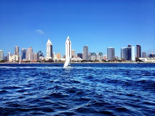 beautiful san diego skyline from the bay view