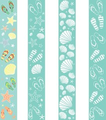 Decorative seamless summer border