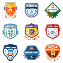 Modern badge graphics