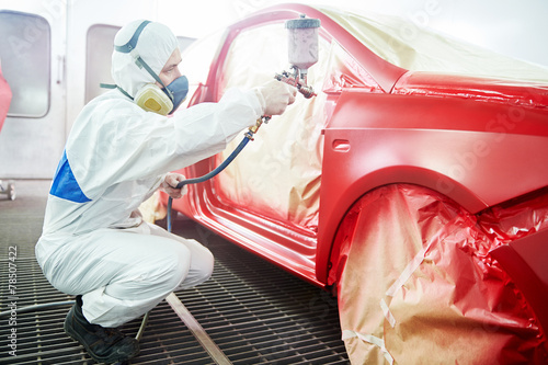 car painting technology - 78507422
