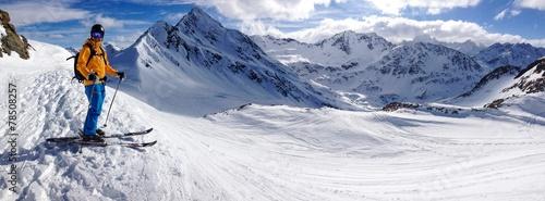 obraz lub plakat Skifahrer
