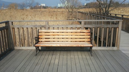 Scenery bench