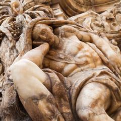 Detail an einem historischen Palast in Valencia, Spanien