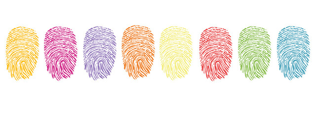 Colorful finger prints vector