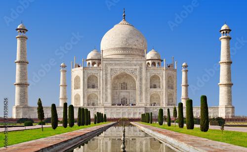Spoed canvasdoek 2cm dik India Taj Mahal, Agra