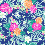 neon tropical ~ seamless print