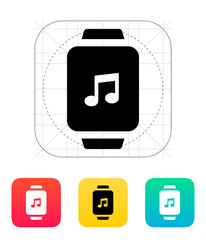 Music on smart watch icon.