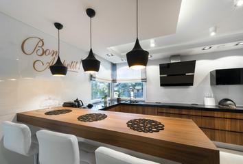 Modern kitchen counter interior design