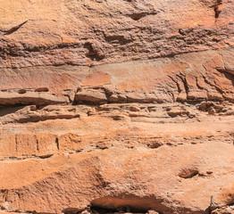 Layers of rock at Pha Taem national park, Ubon Ratchathani, Thai