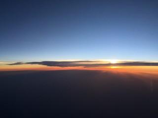 Sunset shot from flight