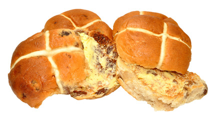 Toasted Hot Cross Buns