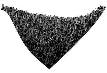 Abstract Urban City Wave Vector
