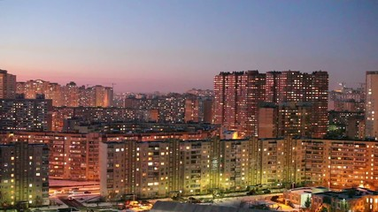 Kyiv district at the evening
