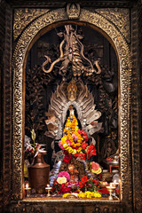 Altar in hindu temple