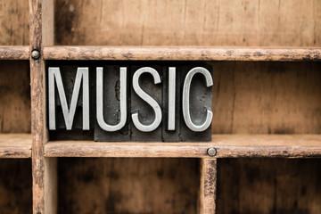 Music Vintage Letterpress Type in Drawer