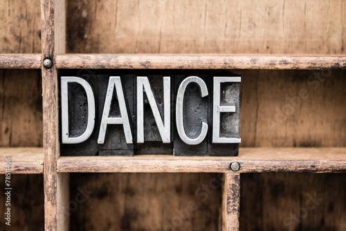 Plexiglas Dans Dance Vintage Letterpress Type in Drawer