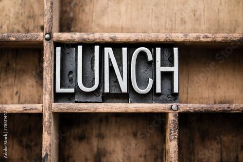 Lunch Vintage Letterpress Type in Drawer - 78511447