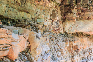 Layers of rock at Pha Taem national park, Ubon Ratchathani, Thai