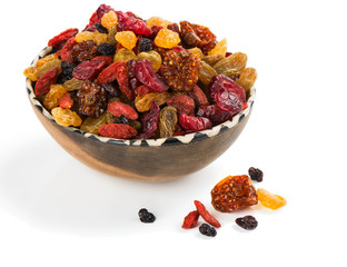 different dried  berries in assortment