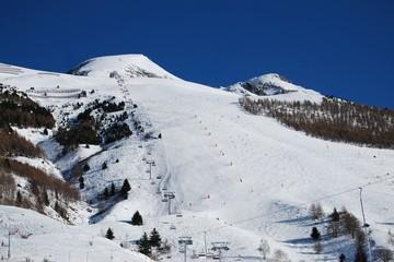 Diable 1 ski slope piste, Les Deux Alpes, France
