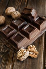 chocolate and walnuts