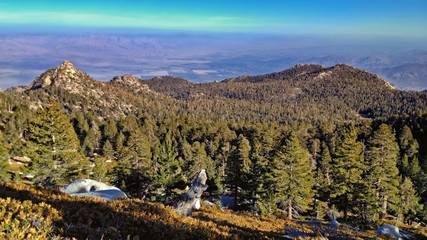 Scenic View of Palm Springs from Mountain Top in San Jacinto