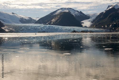 Spoed canvasdoek 2cm dik Gletsjers Chile - Amalia Glacier - Skua Glacier