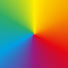 Circular rainbow (spectrum) gradient background