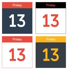 Friday 13th calendar sheets set
